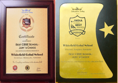 Whitefield Global School is adjudged as the BEST CBSE school in INDIA 🇮🇳 by the eminent jury of Education Today, only 14 CBSE schools across the country were the recipients of this award. 🏆🏆🏆