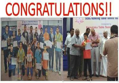 Seshaanth Ramasamy of Grade IV won one more State Ranking Table Tennis Title